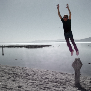 Joe Strell at the Salton Sea